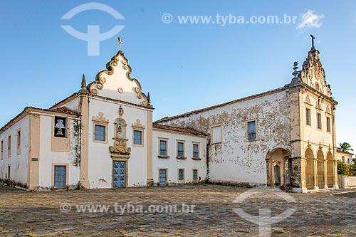 Fachada do Convento do Carmo (1766) e a Igreja da Ordem Terceira (1943) - mais conhecida como Igreja de Nosso Senhor dos Passos  - São Cristóvão - Sergipe (SE) - Brasil