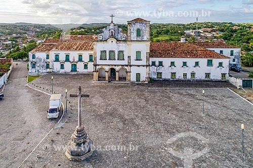 Foto feita com drone da Praça São Francisco com a Igreja e Convento de Santa Cruz - também conhecido como Convento de São Francisco  - São Cristóvão - Sergipe (SE) - Brasil