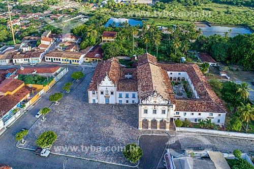 Foto feita com drone do Convento do Carmo (1766) e a Igreja da Ordem Terceira (1943) - mais conhecida como Igreja de Nosso Senhor dos Passos  - São Cristóvão - Sergipe (SE) - Brasil