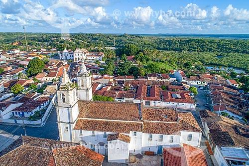 Foto feita com drone da cidade de São Cristóvão com a Igreja Matriz de Nossa Senhora da Vitória  - São Cristóvão - Sergipe (SE) - Brasil