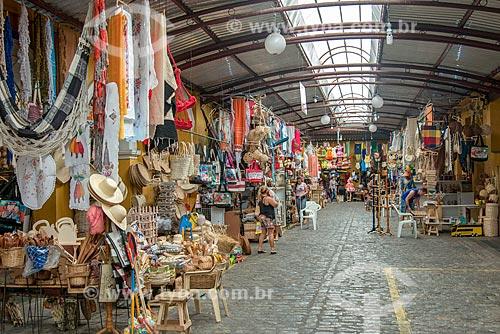Artesanato à venda no Mercado de Artesanato Thales Ferraz  - Aracaju - Sergipe (SE) - Brasil