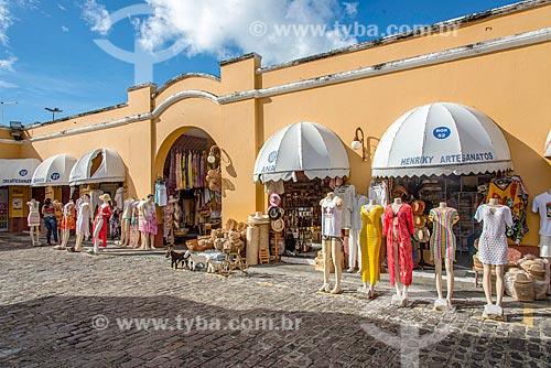 Lojas no interior do Mercado de Artesanato Thales Ferraz  - Aracaju - Sergipe (SE) - Brasil