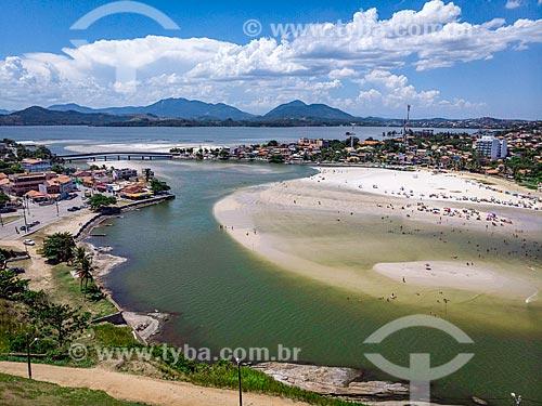 Foto feita com drone da Praia da Barrinha no canal da Lagoa de Saquarema  - Saquarema - Rio de Janeiro (RJ) - Brasil