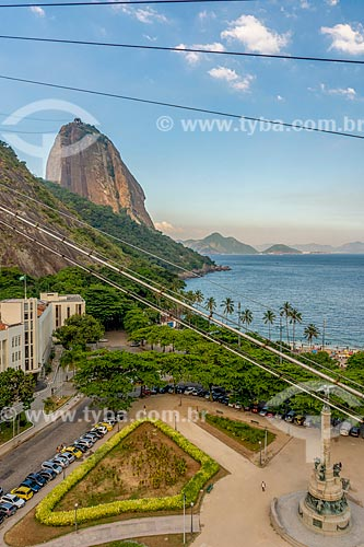 Vista da Praça General Tibúrcio durante a travessia entre o Morro da Urca e o Pão de Açúcar  - Rio de Janeiro - Rio de Janeiro (RJ) - Brasil