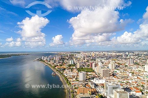 Foto feita com drone da orla do Rio Sergipe  - Aracaju - Sergipe (SE) - Brasil