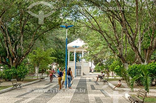 Coreto na Praça Fausto Cardoso  - Itabaiana - Sergipe (SE) - Brasil
