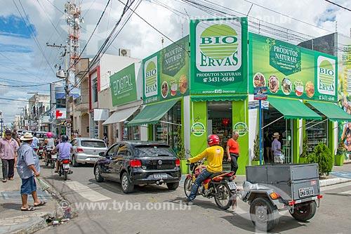 Loja de produtos naturais no centro da cidade de Itabaiana  - Itabaiana - Sergipe (SE) - Brasil