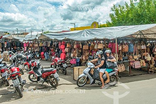 Barracas em feira no centro da cidade de Itabaiana  - Itabaiana - Sergipe (SE) - Brasil