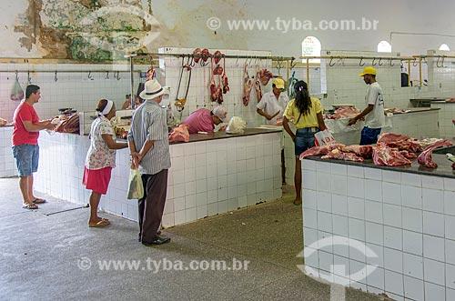 Interior do Mercado Municipal de Carnes de Itabaiana  - Itabaiana - Sergipe (SE) - Brasil
