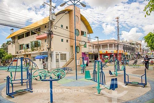 Academia da Terceira Idade em praça no centro da cidade de Itabaiana  - Itabaiana - Sergipe (SE) - Brasil