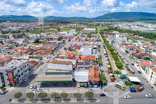 Foto feita com drone da esquina da Avenida Nivalda Lima de Figueiredo com a Avenida Ivo de Carvalho  - Itabaiana - Sergipe (SE) - Brasil