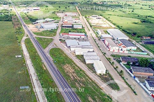 Foto feita com drone de distrito industrial da cidade de Itabaiana às margens da Rodovia BR-235  - Itabaiana - Sergipe (SE) - Brasil