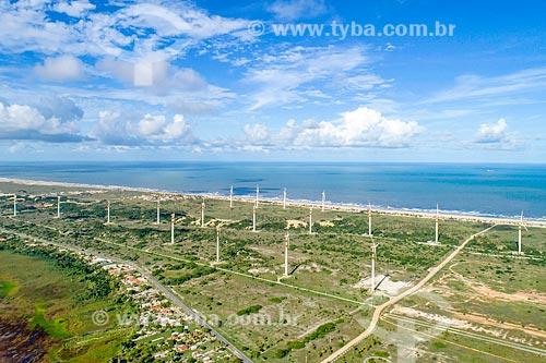 Foto feita com drone do Parque Eólico Barra dos Coqueiros  - Barra dos Coqueiros - Sergipe (SE) - Brasil