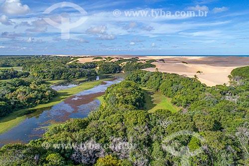Foto feita com drone da APA de Piaçabuçu  - Piaçabuçu - Alagoas (AL) - Brasil