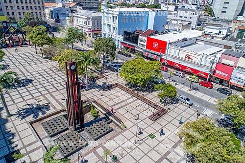 Foto feita com drone da Praça do Ferreira  - Fortaleza - Ceará (CE) - Brasil
