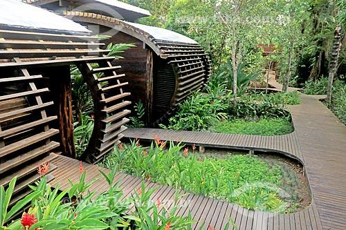 Entrada de bangalôs no Lodge Mirante do Gavião  - Novo Airão - Amazonas (AM) - Brasil