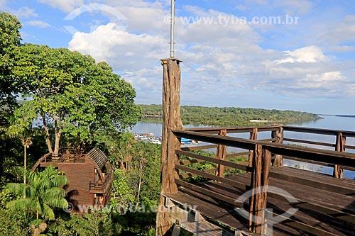 Bangalô no Lodge Mirante do Gavião com o Rio Negro ao fundo  - Novo Airão - Amazonas (AM) - Brasil