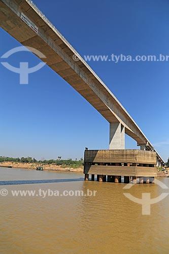 Vista da Ponte Rondon-Roosevelt (2014) sobre o Rio Madeira  - Porto Velho - Rondônia (RO) - Brasil