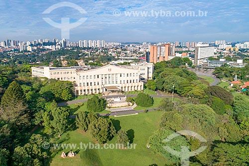 Foto feita com drone do Palácio dos Bandeirantes (1955) - sede do Governo do Estado  - São Paulo - São Paulo (SP) - Brasil