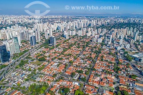 Foto feita com drone do bairro Vila Cordeiro  - São Paulo - São Paulo (SP) - Brasil
