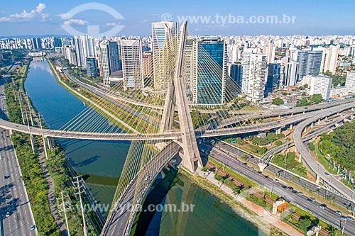 Foto feita com drone da Ponte Octávio Frias de Oliveira (2008)  - São Paulo - São Paulo (SP) - Brasil