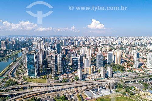 Foto feita com drone da Avenida Luis Carlos Berrini  - São Paulo - São Paulo (SP) - Brasil