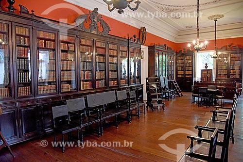 Biblioteca no interior da Fundação Casa de Rui Barbosa  - Rio de Janeiro - Rio de Janeiro (RJ) - Brasil