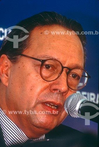 Detalhe de Pedro Malan - Ministro da Fazenda - década de 90  - Rio de Janeiro - Rio de Janeiro (RJ) - Brasil