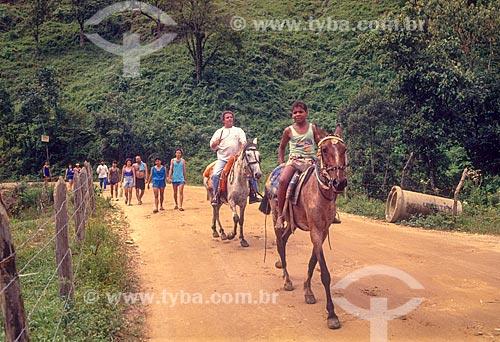 Cavalgada em Visconde de Mauá - década de 80  - Resende - Rio de Janeiro (RJ) - Brasil