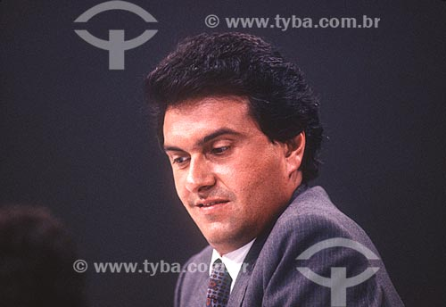 Ronaldo Caiado - candidato à presidência pelo Partido Social Democrático (PSD) - década de 80  - Rio de Janeiro - Rio de Janeiro (RJ) - Brasil