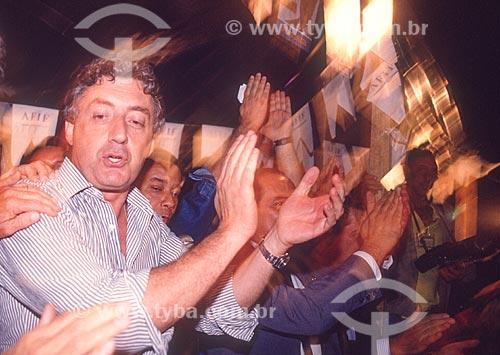 Guilherme Afif Domingos - candidato à presidência pelo Partido Liberal (PL) - década de 80  - Rio de Janeiro - Rio de Janeiro (RJ) - Brasil