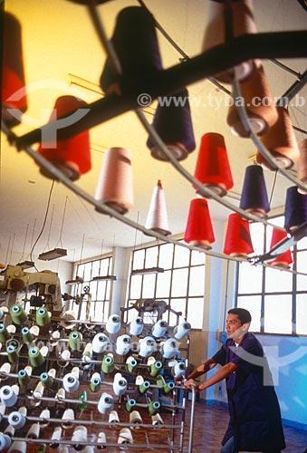 Interior de indústria textil - década de 90  - Brasil