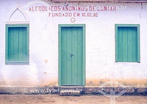 Sede do alcoólicos anônimos do distrito de Lumiar - década de 90  - Nova Friburgo - Rio de Janeiro (RJ) - Brasil