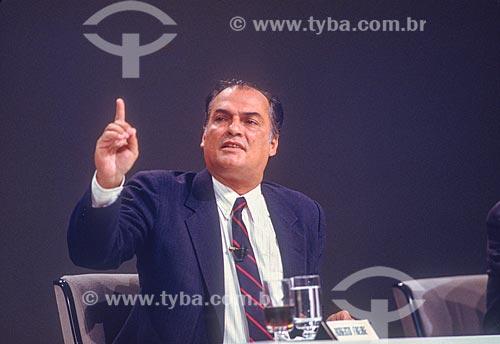 Roberto Freire - candidato à presidência pelo Partido Comunista Brasileiro (PCB) - década de 80  - Rio de Janeiro - Rio de Janeiro (RJ) - Brasil