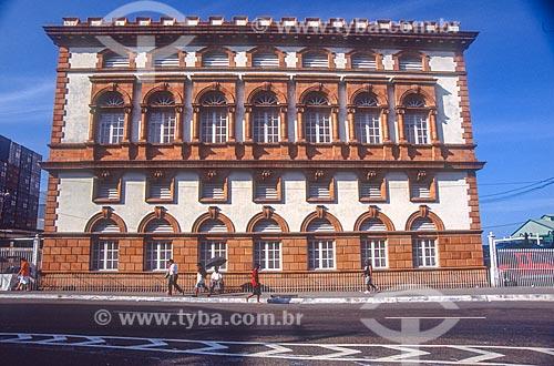 Fachada lateral do prédio da Alfândega e Guardamoria (1906)  - Manaus - Amazonas (AM) - Brasil