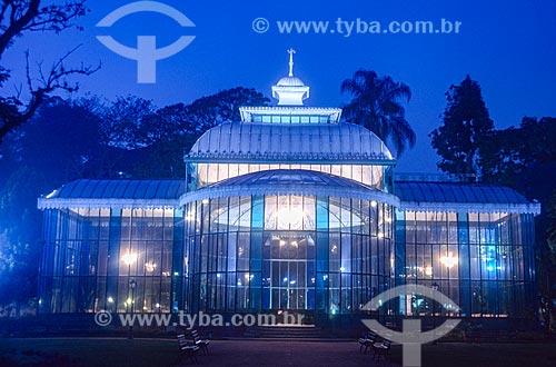 Palácio de Cristal (1884) à noite - década de 2000  - Petrópolis - Rio de Janeiro (RJ) - Brasil