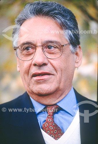 Detalhe de Fernando Henrique Cardoso - então Presidente do Brasil  - Brasil