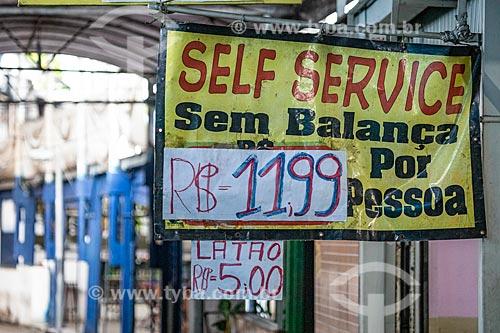 Detalhe de placa em restaurante no Centro Luiz Gonzaga de Tradições Nordestinas  - Rio de Janeiro - Rio de Janeiro (RJ) - Brasil