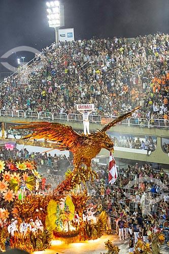 Desfile do Grêmio Recreativo Escola de Samba Unidos do Viradouro - Carnavalesco Paulo Barros em destaque de carro alegórico - Enredo 2019 - Viraviradouro!  - Rio de Janeiro - Rio de Janeiro (RJ) - Brasil