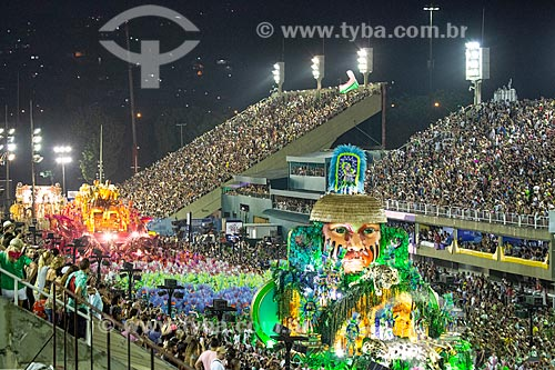 Desfile do Grêmio Recreativo Escola de Samba Estação Primeira de Mangueira - Carro alegórico - Enredo 2019 - História para ninar gente grande  - Rio de Janeiro - Rio de Janeiro (RJ) - Brasil