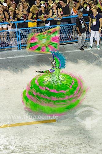 Desfile do Grêmio Recreativo Escola de Samba Estação Primeira de Mangueira - Porta-Bandeira (Squel Jorgea) - Enredo 2019 - História para ninar gente grande  - Rio de Janeiro - Rio de Janeiro (RJ) - Brasil