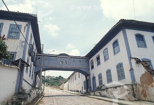 Passadiço da Casa da Glória - hoje abriga o Centro de Geologia Eschwege - década de 2000  - Diamantina - Minas Gerais (MG) - Brasil