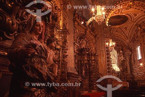 Interior da Basílica Menor de Nossa Senhora do Pilar (1696) - mais conhecida como Igreja de Nossa Senhora do Pilar - década de 2000  - Ouro Preto - Minas Gerais (MG) - Brasil