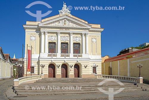 Fachada do Teatro Municipal de São João del-Rei  - São João del Rei - Minas Gerais (MG) - Brasil