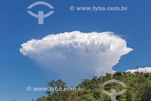 Detalhe de nuvem em dia céu azul  - Guarani - Minas Gerais (MG) - Brasil