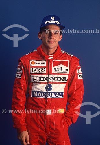 Ayrton Senna - piloto de Fórmula 1 - década de 90  - Rio de Janeiro - Rio de Janeiro (RJ) - Brasil