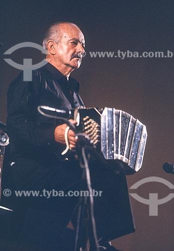 Músico Astor Piazzolla - década de 80  - Rio de Janeiro - Rio de Janeiro (RJ) - Brasil