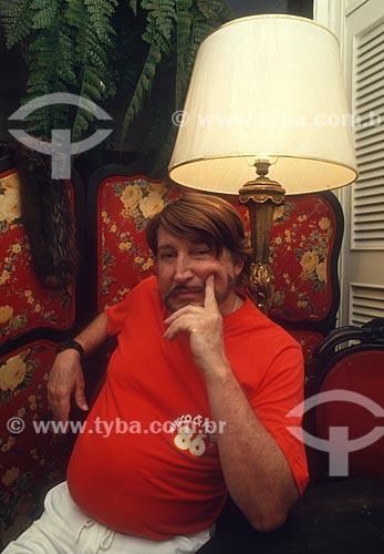 Clóvis Bornay em sua casa - década de 80  - Rio de Janeiro - Rio de Janeiro (RJ) - Brasil