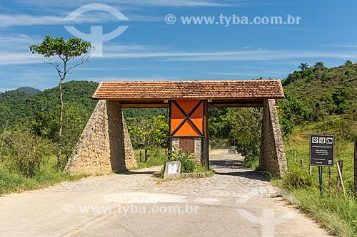 Pórtico da Área de Proteção Ambiental da Serrinha do Alambari  - Resende - Rio de Janeiro (RJ) - Brasil