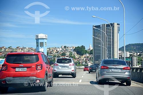 Cabine da Polícia no Viaduto do Gasômetro com o Holiday inn Porto Maravilha ao fundo  - Rio de Janeiro - Rio de Janeiro (RJ) - Brasil